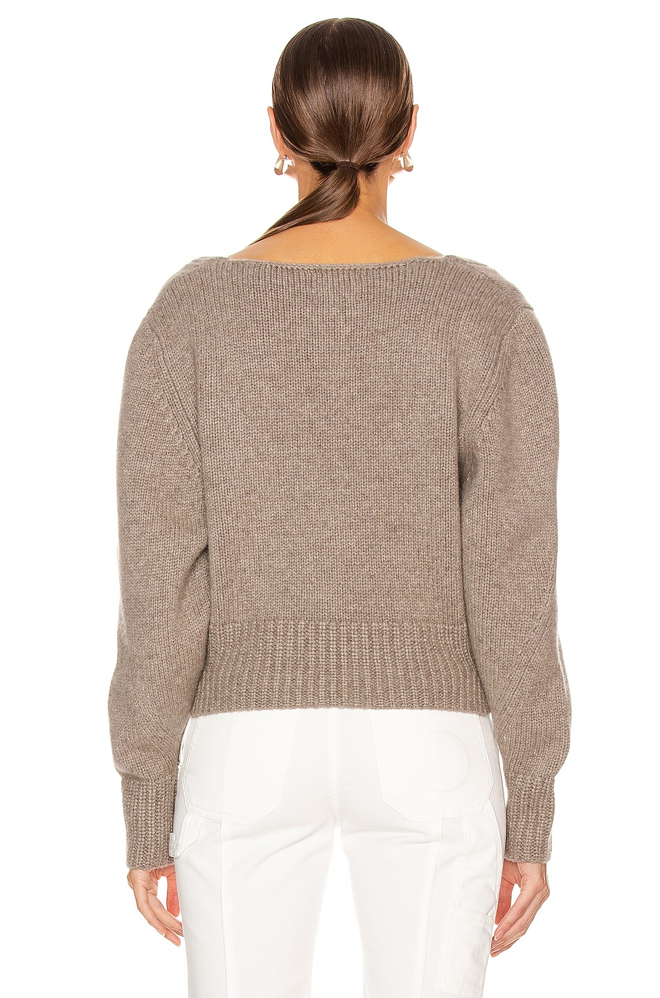 Image 3 of KHAITE Charlette Sweater in Barley