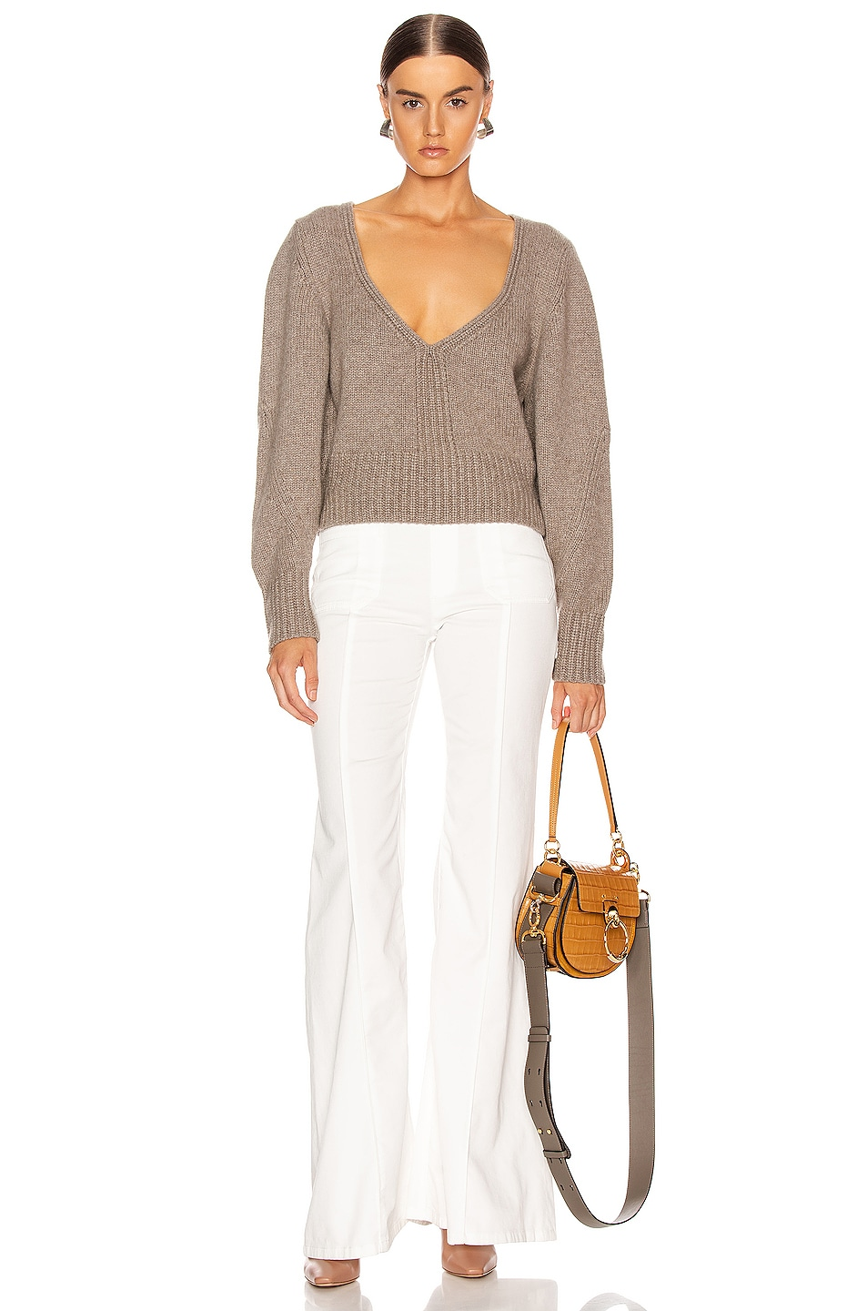Image 4 of KHAITE Charlette Sweater in Barley