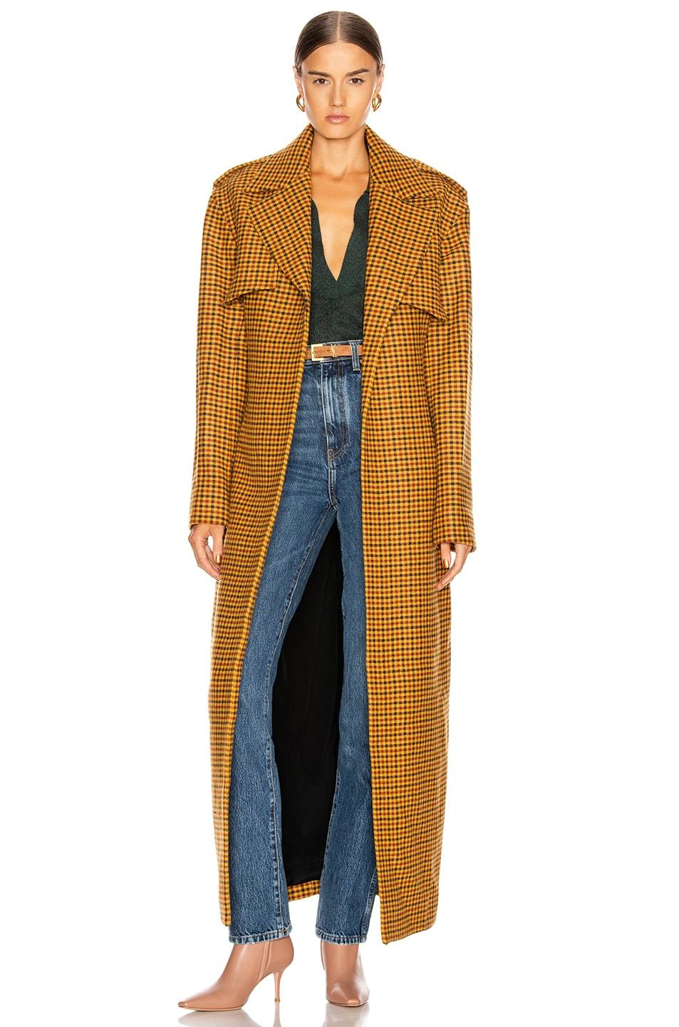 Image 1 of KHAITE Blythe Trench Coat in Gingham