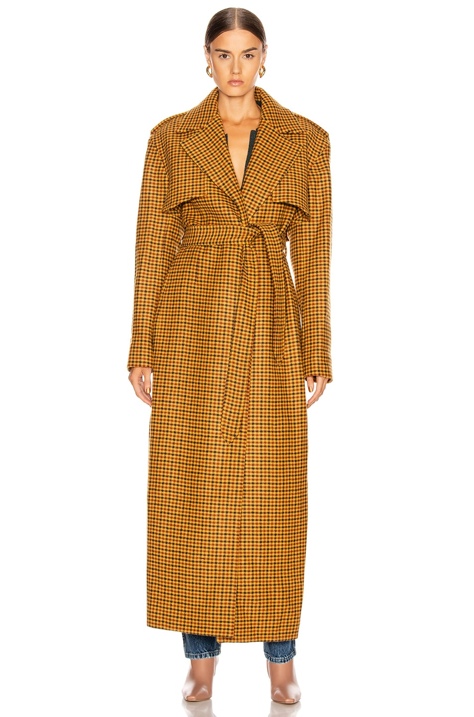 Image 2 of KHAITE Blythe Trench Coat in Gingham