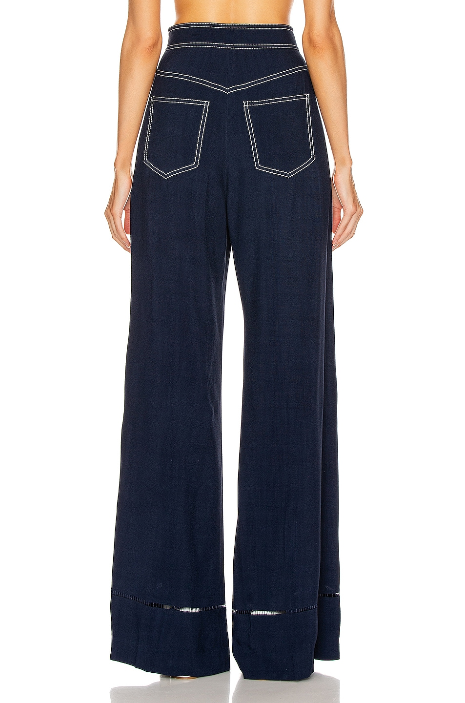 Image 3 of KHAITE Vera Sailor Pant in Navy