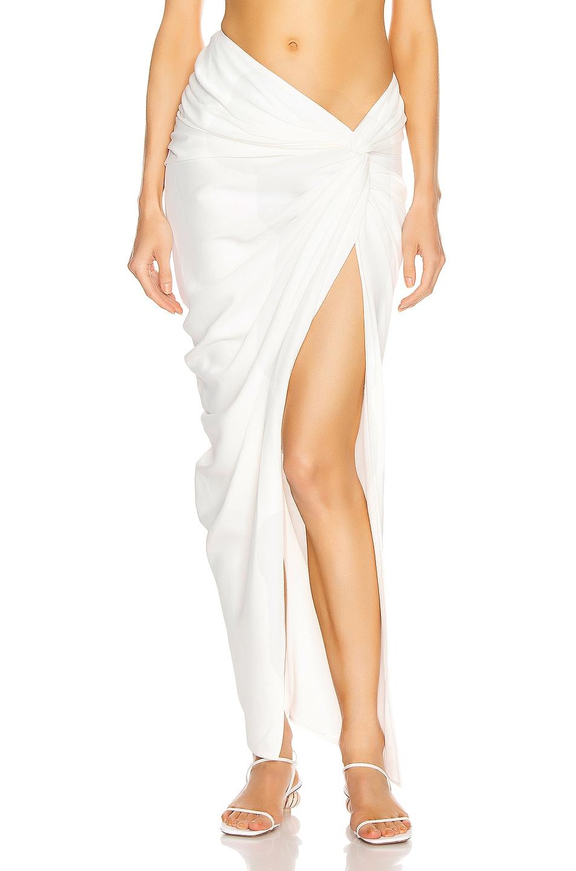 Image 1 of KHAITE Louie Skirt in Ivory