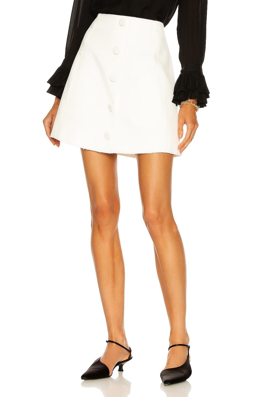 Image 1 of KHAITE Mini Skirt in White