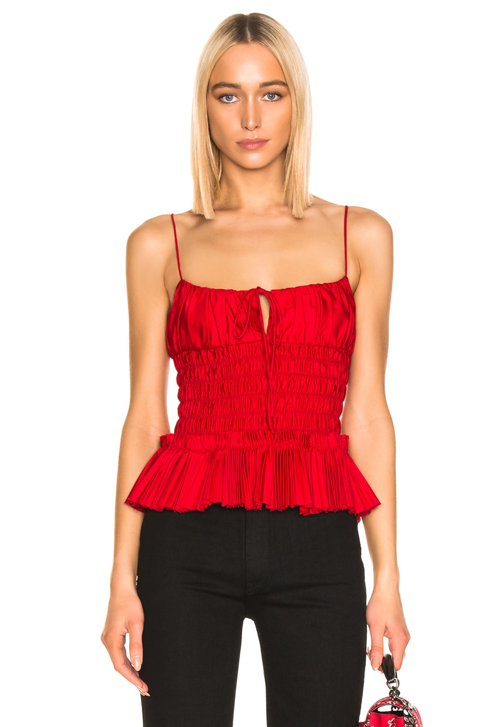 Image 1 of KHAITE Dagny Top in Currant