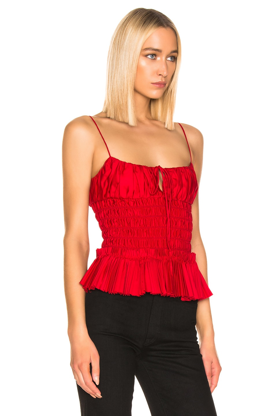 Image 2 of KHAITE Dagny Top in Currant