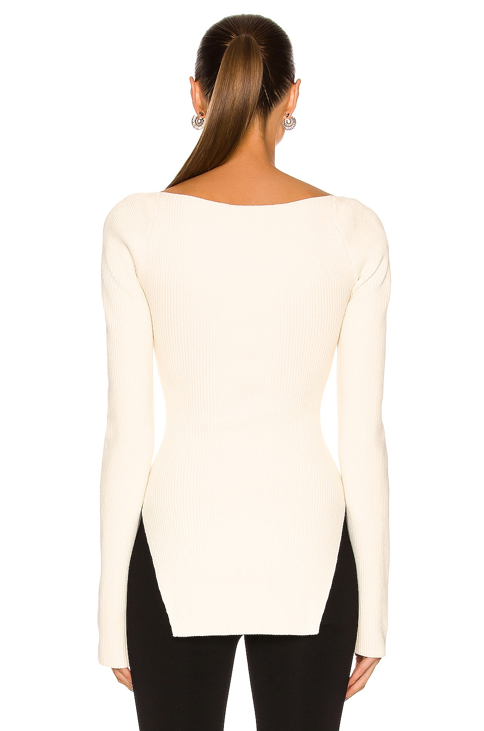 Image 3 of KHAITE Maddy Long Bustier Top in Cream