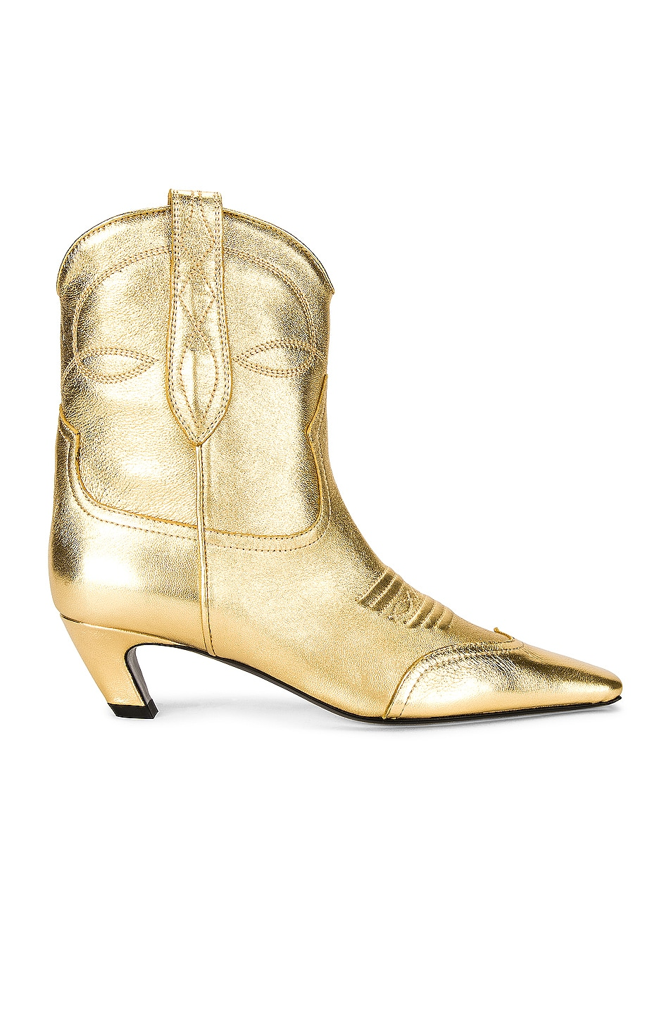 Image 1 of KHAITE Dallas Ankle Boots in Gold