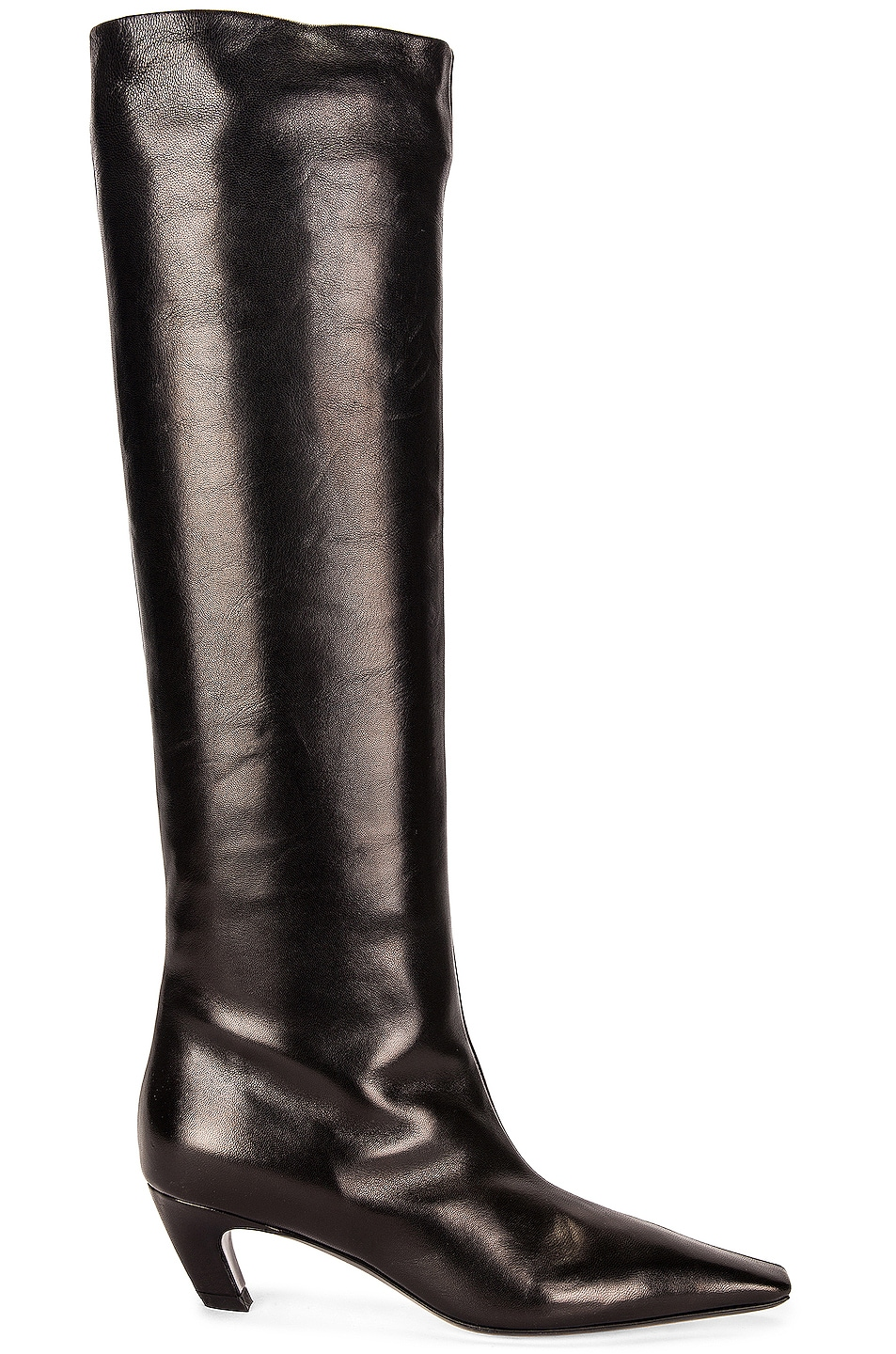 Image 1 of KHAITE Davis Knee High Boots in Black