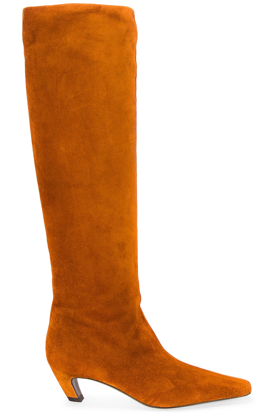 Image 1 of KHAITE Davis Knee High Boots in Caramel