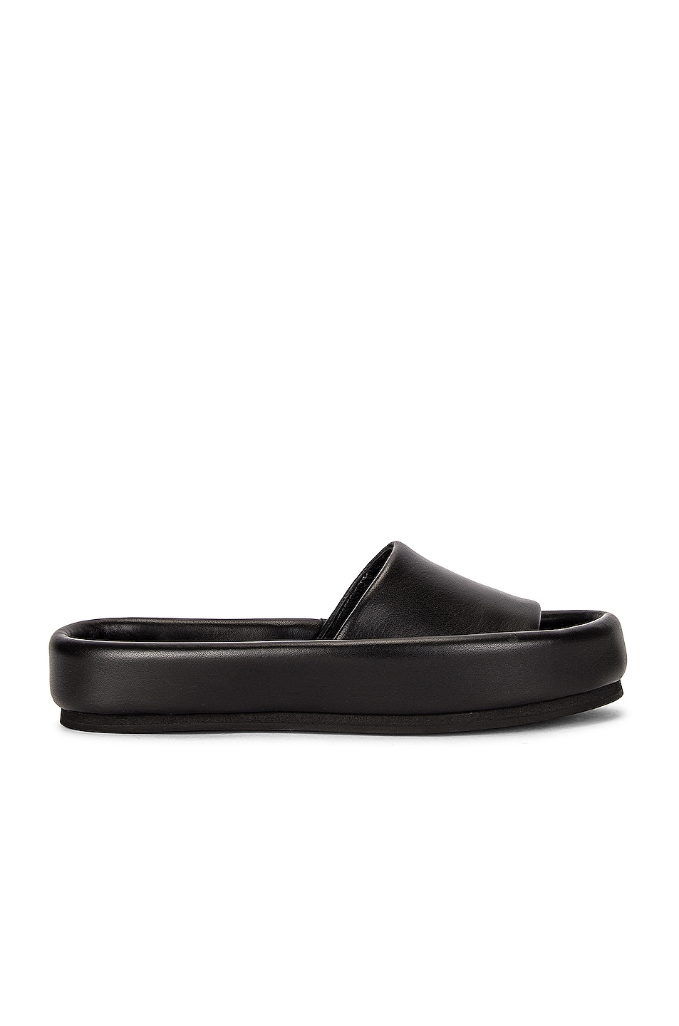Image 1 of KHAITE Venice Pool Slides in Black