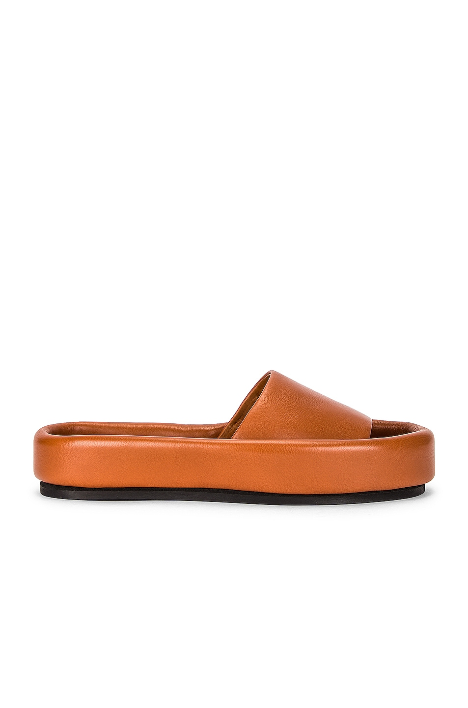 Image 1 of KHAITE Venice Pool Slides in Caramel