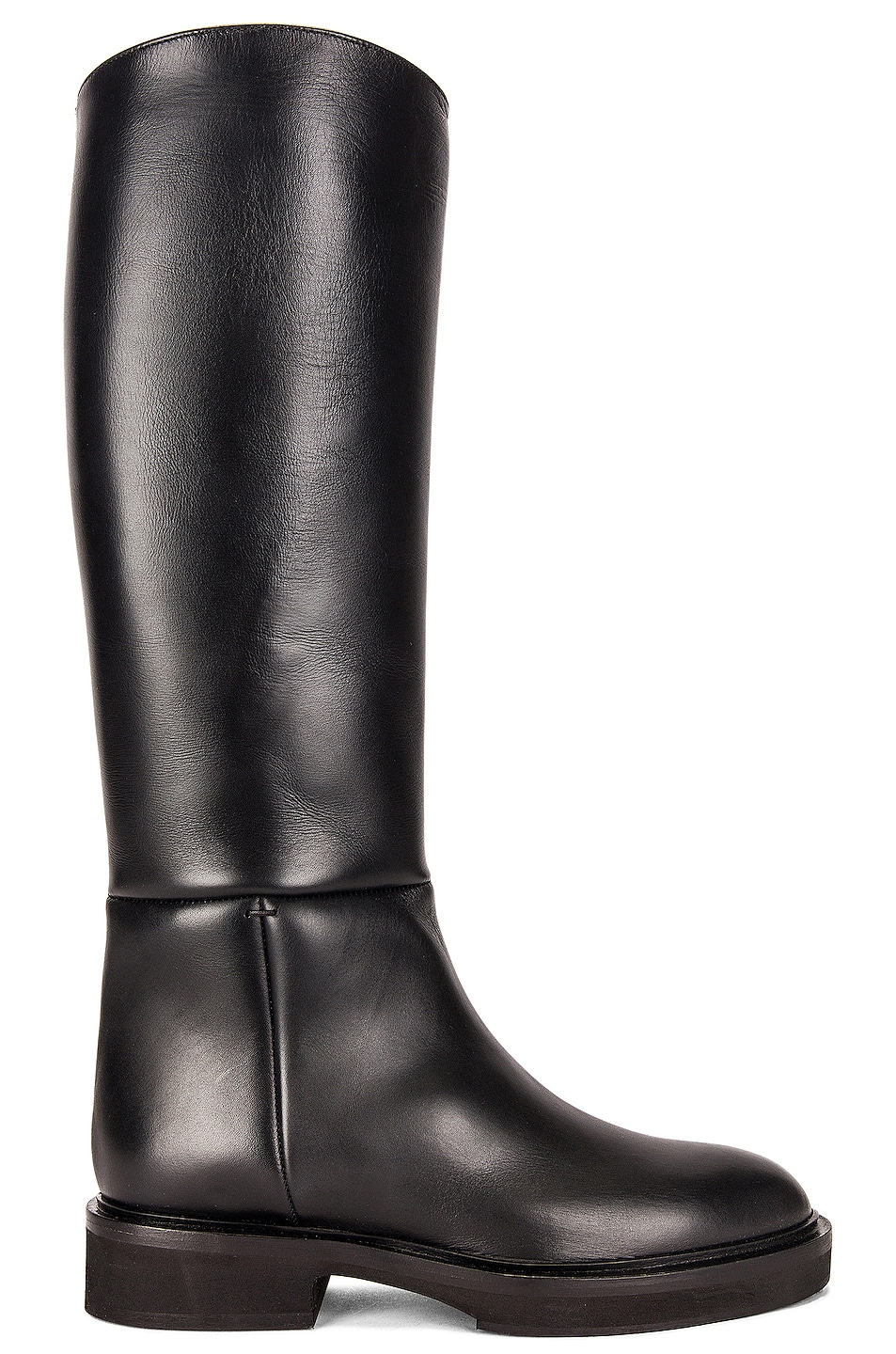 Image 1 of KHAITE Derby Knee High Riding Boots in Black