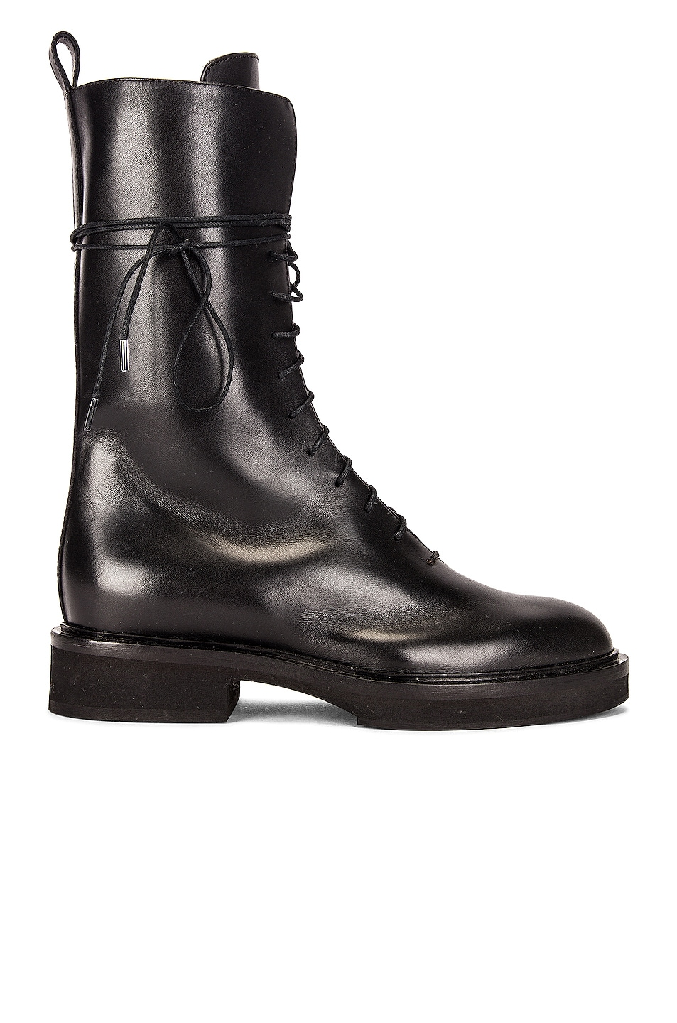 Image 1 of KHAITE Conley Lace Up Combat Boots in Black