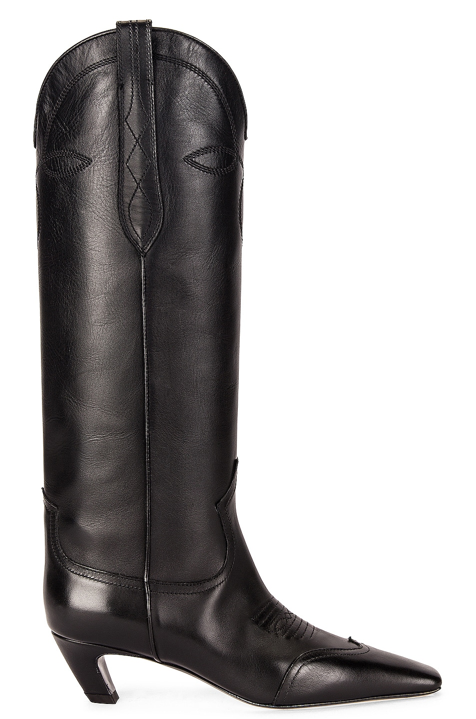 Image 1 of KHAITE Dallas Knee High Boots in Black