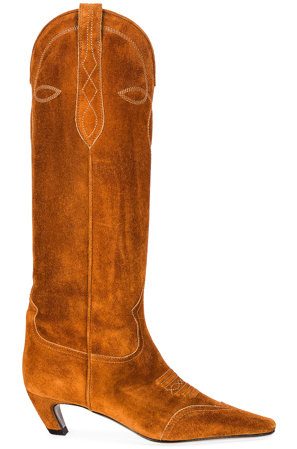 Image 1 of KHAITE Dallas Knee High Boots in Caramel
