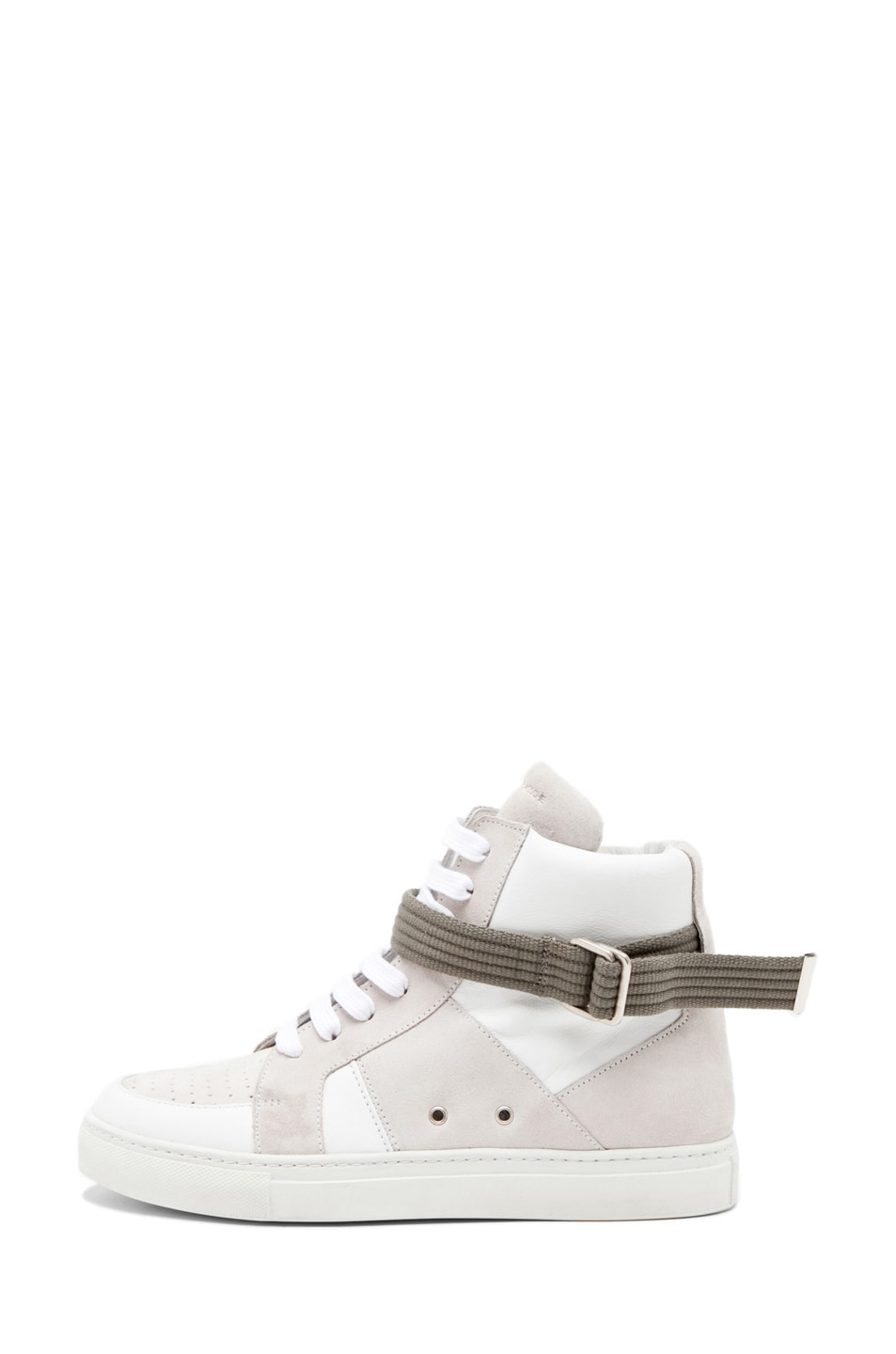 Image 1 of Kris Van Assche High Strap Sneaker in White