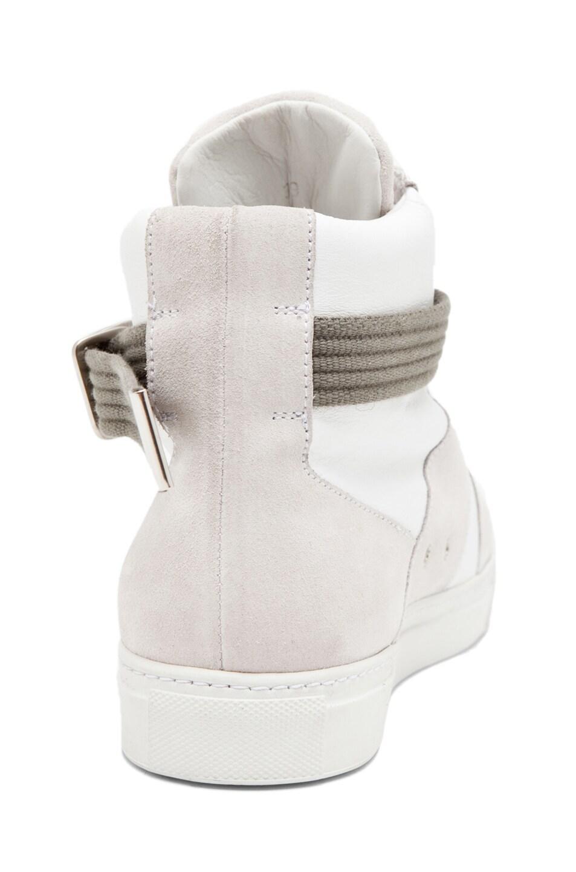 Image 3 of Kris Van Assche High Strap Sneaker in White