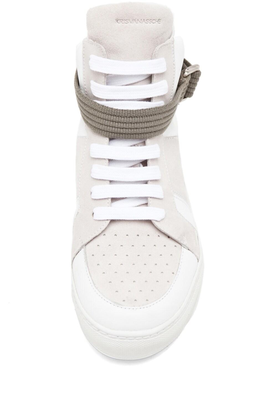 Image 4 of Kris Van Assche High Strap Sneaker in White