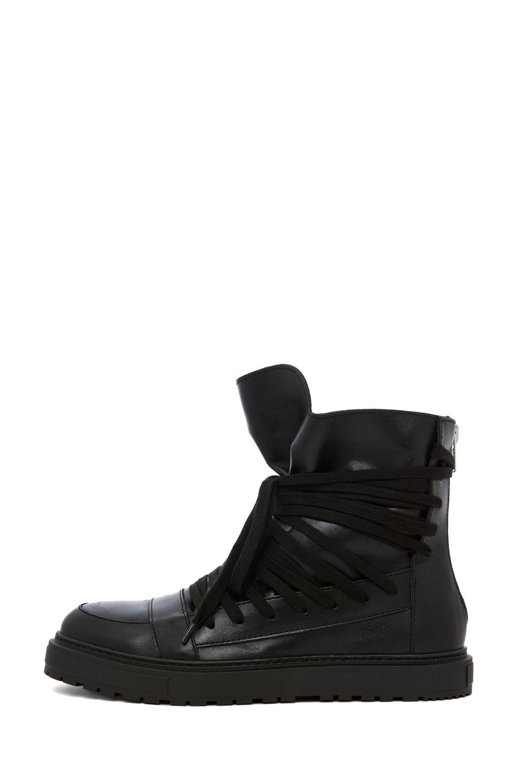 Image 1 of Kris Van Assche Laced Sneaker in Black