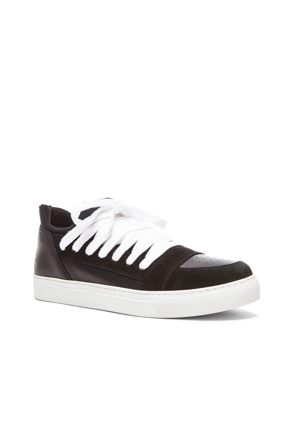 4ffb50c019 Image 1 of Kris Van Assche Low Multi-Lace Leather Sneakers in Black