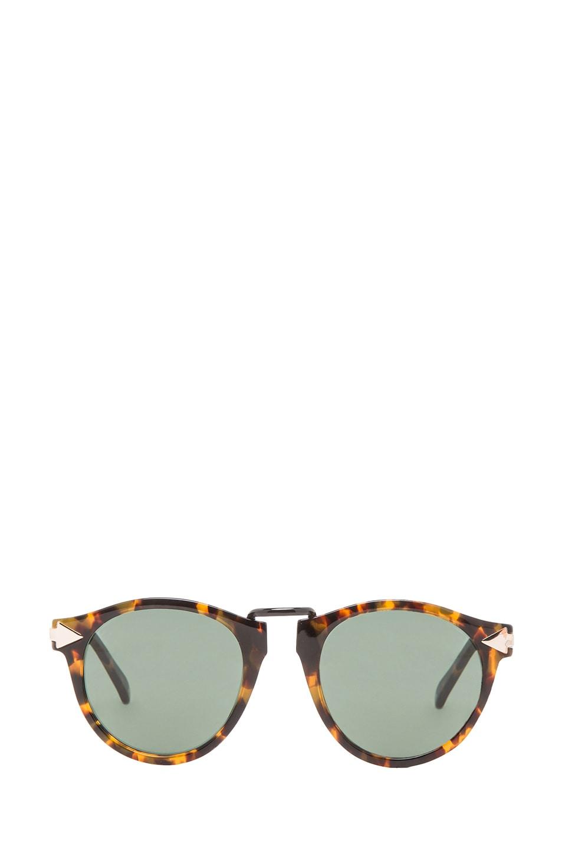 20f028294ef Image 1 of Karen Walker Helter Skelter Sunglasses in Crazy Tortoise