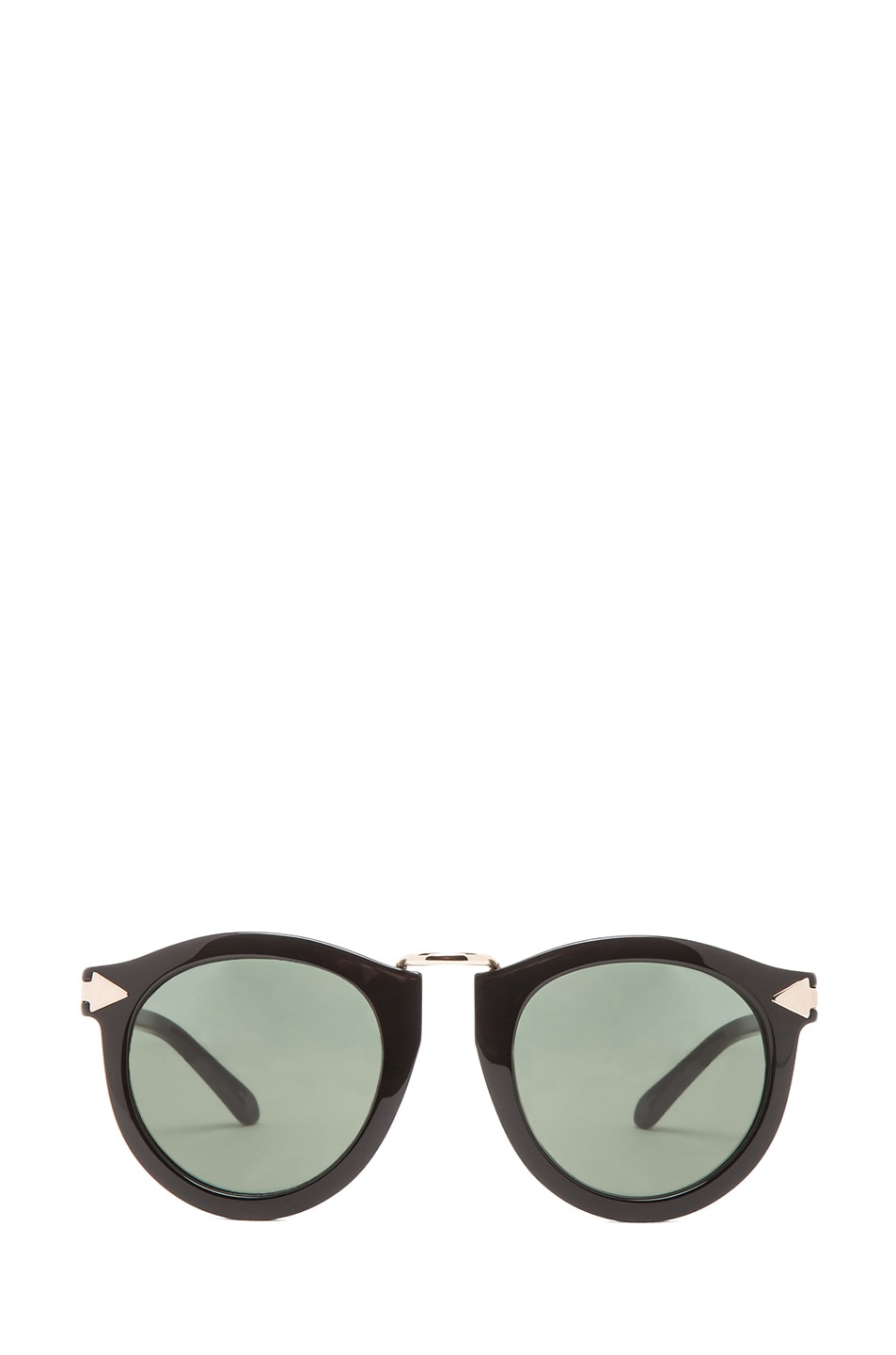 Image 1 of Karen Walker Harvest Sunglasses in Black