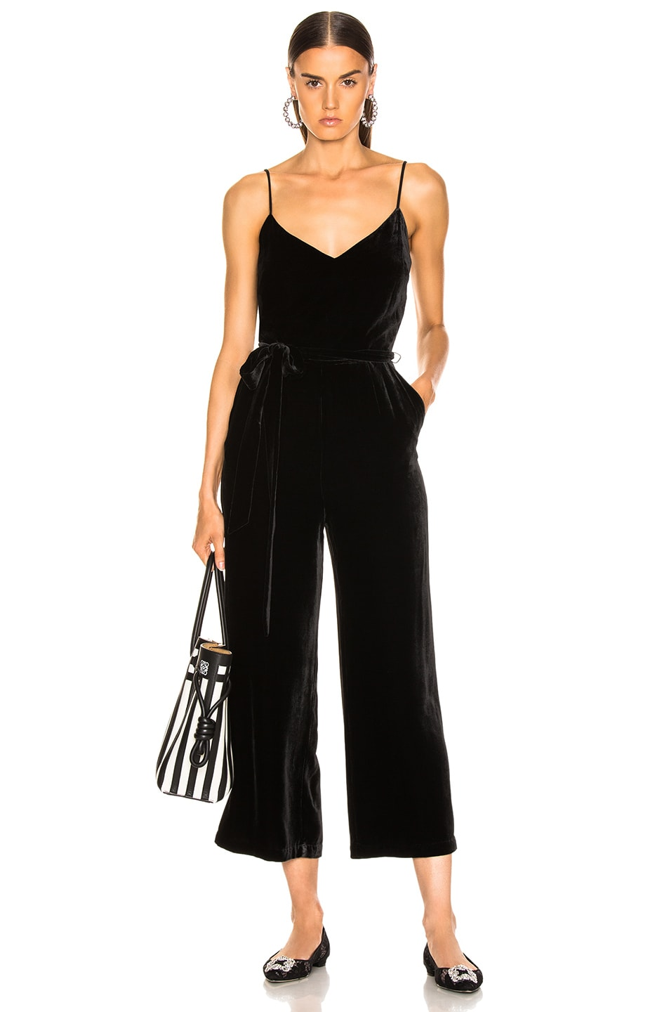 Image 1 of L'AGENCE Jaelyn Camisole Jumpsuit in Black