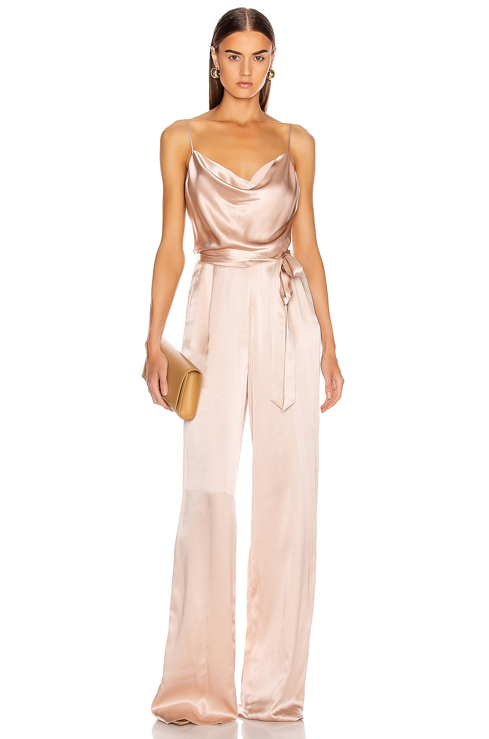 Image 1 of L'AGENCE Rannah Cowl Jumpsuit in Petal