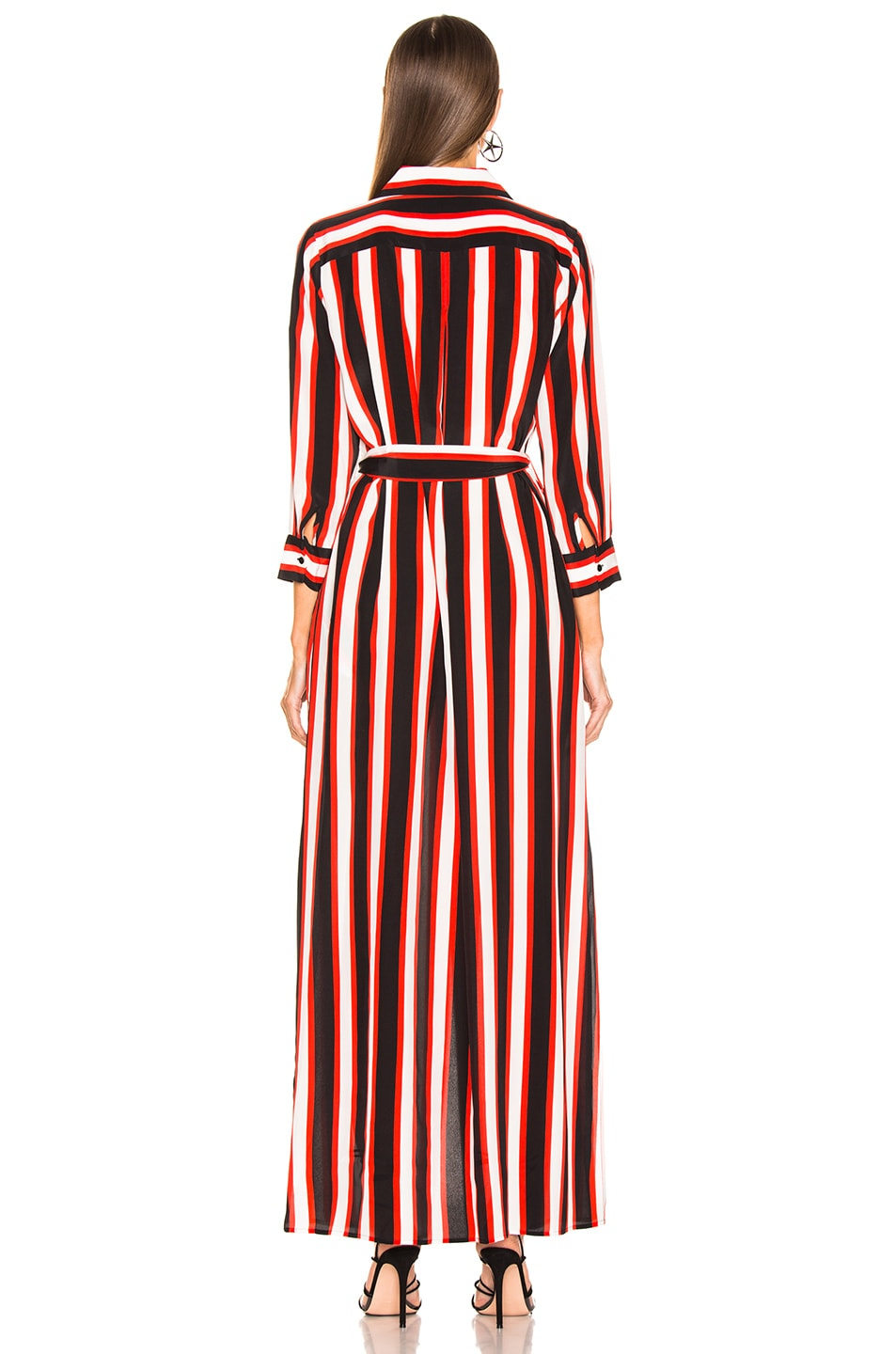 Image 4 of L'AGENCE Cameron Long Shirt Dress in Flame Red Multi