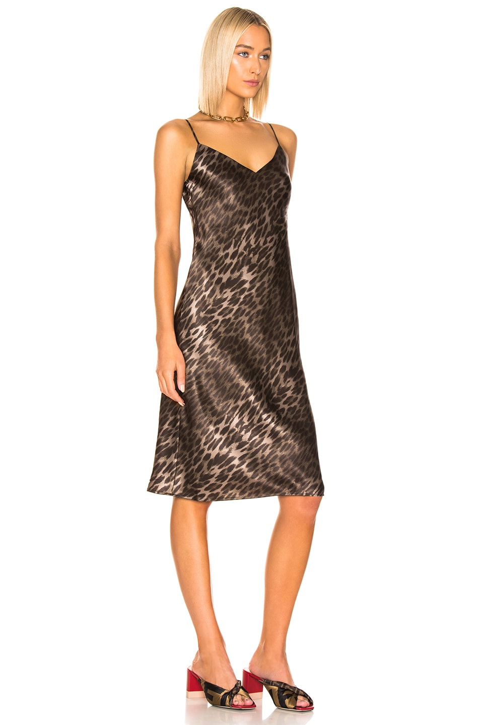 Image 2 of L'AGENCE Jodie V Neck Slip Dress in Camila Leopard