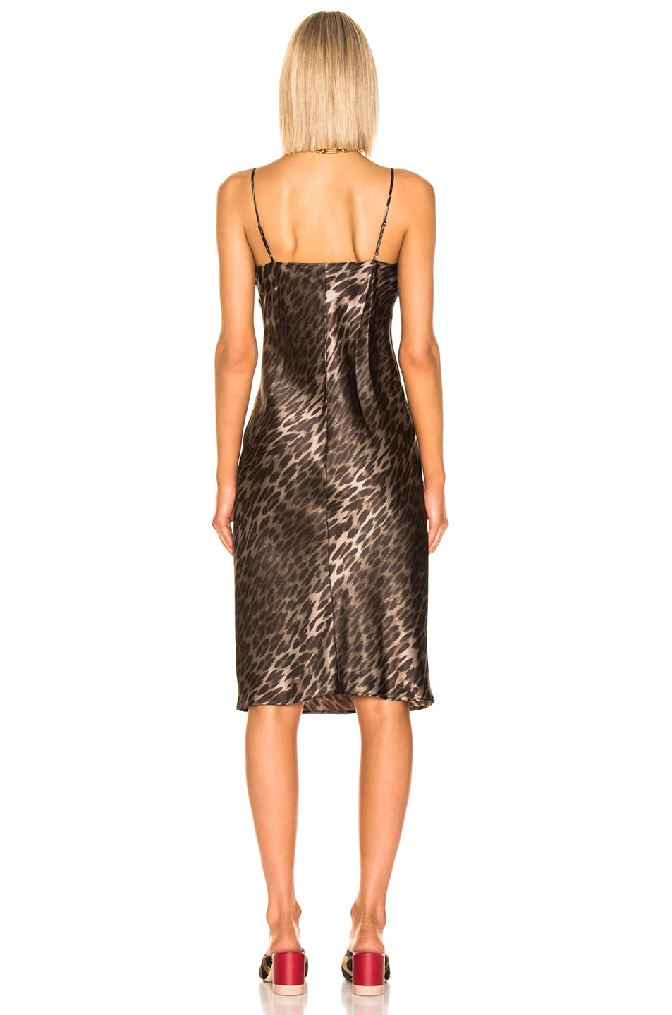 Image 3 of L'AGENCE Jodie V Neck Slip Dress in Camila Leopard