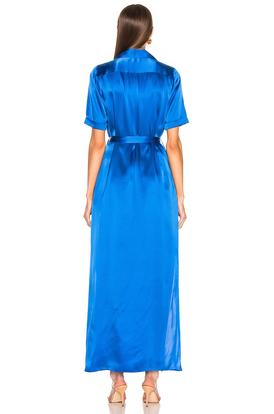 Image 3 of L'AGENCE Klement Cargo Pocket Dress in Riviera Blue