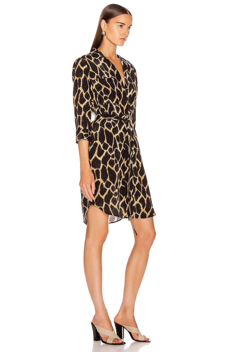 Image 2 of L'AGENCE Stella Short Shirt Dress in Sienna Safari