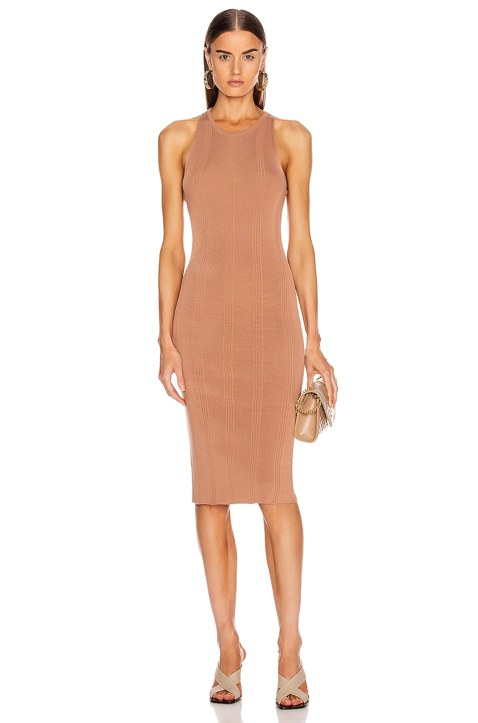Image 1 of L'AGENCE Shelby Knit Dress in New Clay