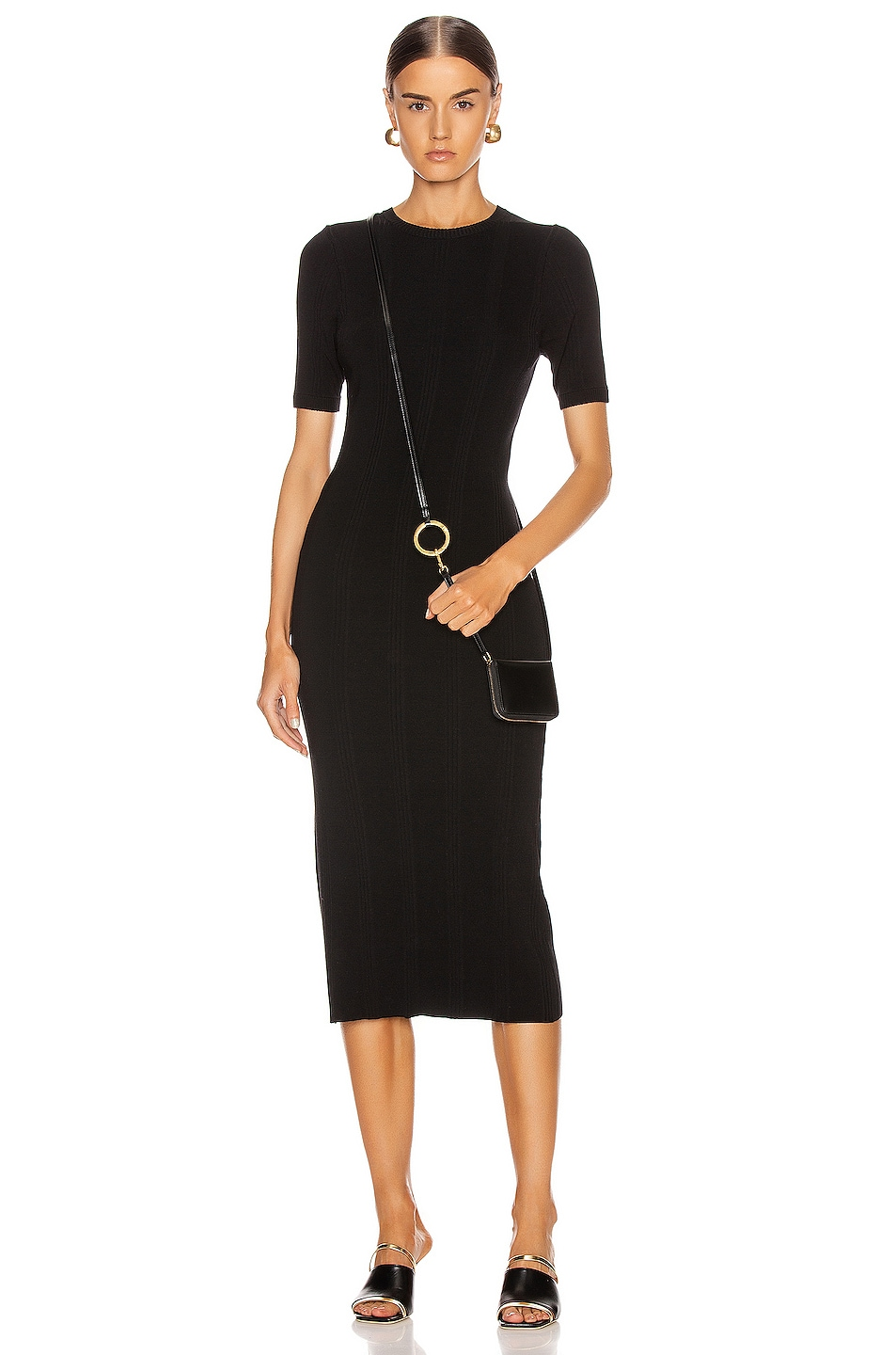 Image 1 of L'AGENCE Koller Sweater Dress in Black