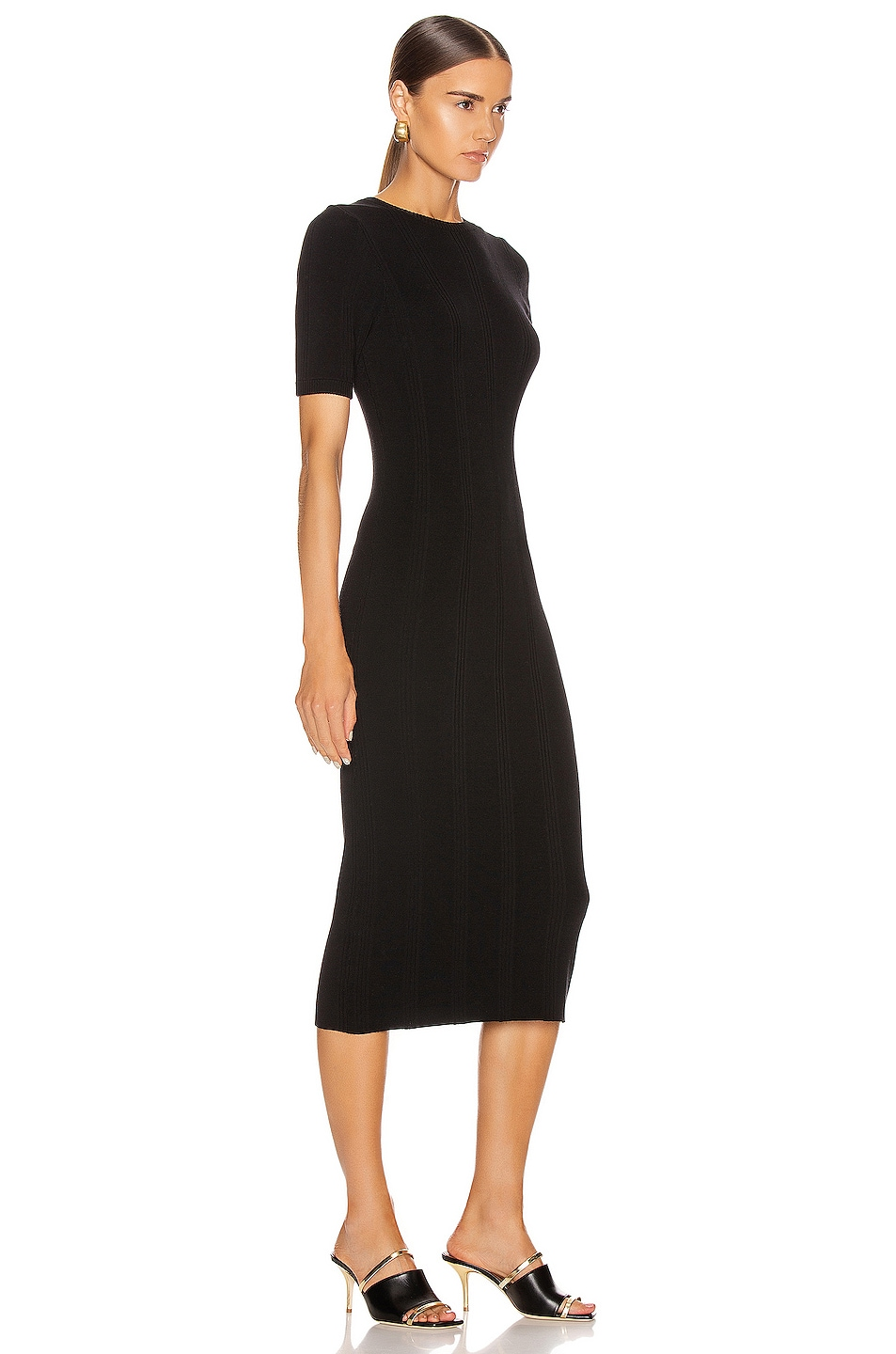 Image 2 of L'AGENCE Koller Sweater Dress in Black