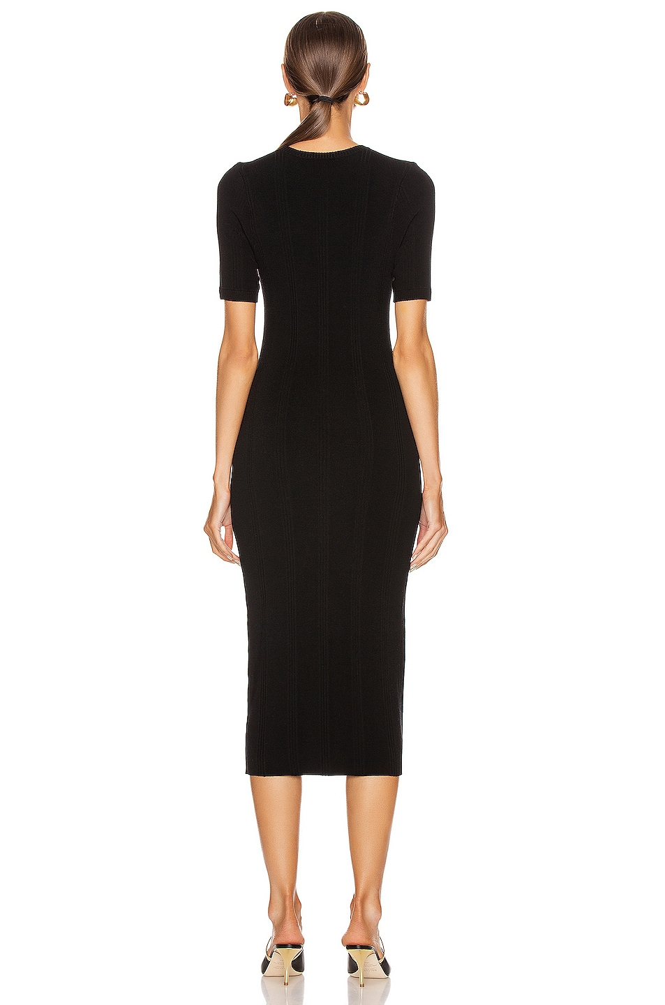 Image 3 of L'AGENCE Koller Sweater Dress in Black