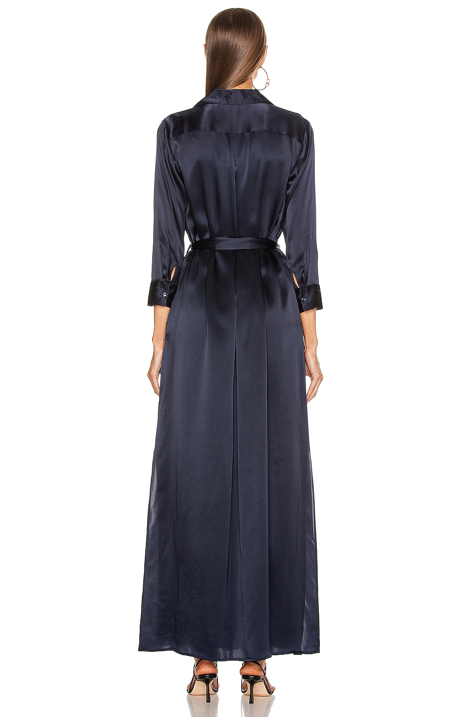 Image 4 of L'AGENCE Cameron Long Shirt Dress in Midnight