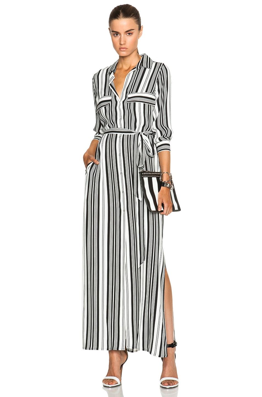 L\'AGENCE Alani Dress in Antique White & Black Stripe | FWRD