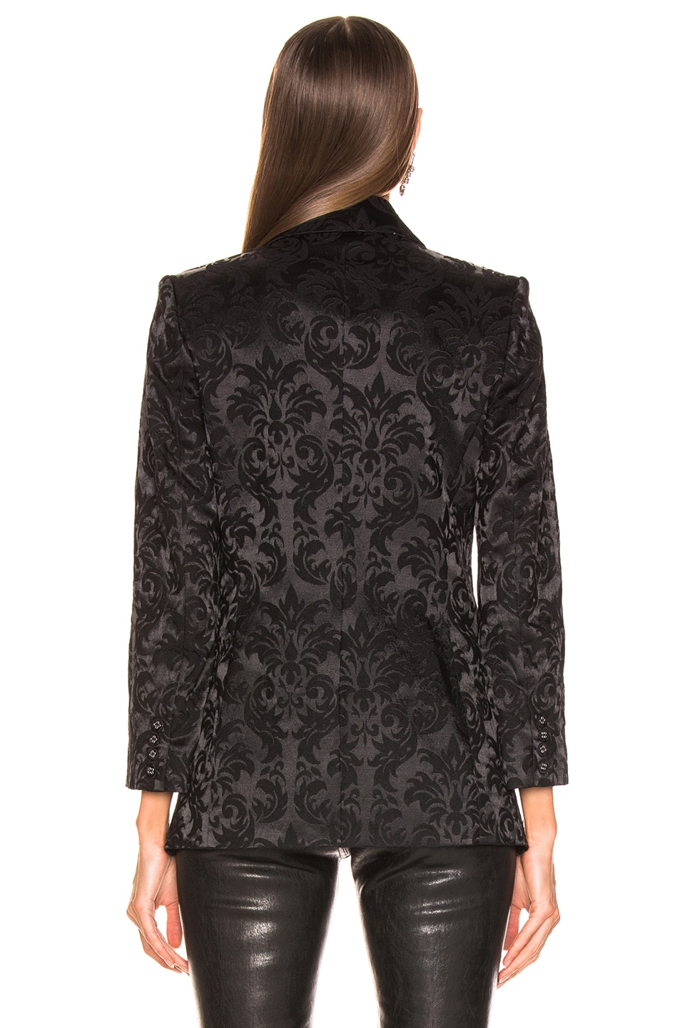 Image 4 of L'AGENCE Neval Blazer With Contrast Lapel in Black & Black