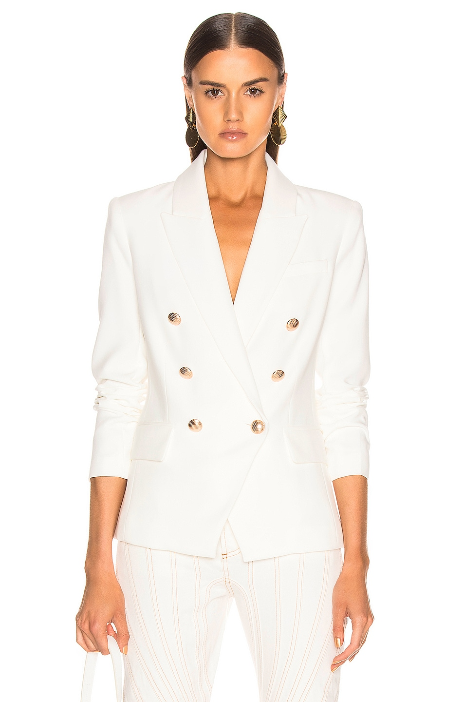 Image 1 of L'AGENCE Kenzie Double Breasted Blazer in Ivory