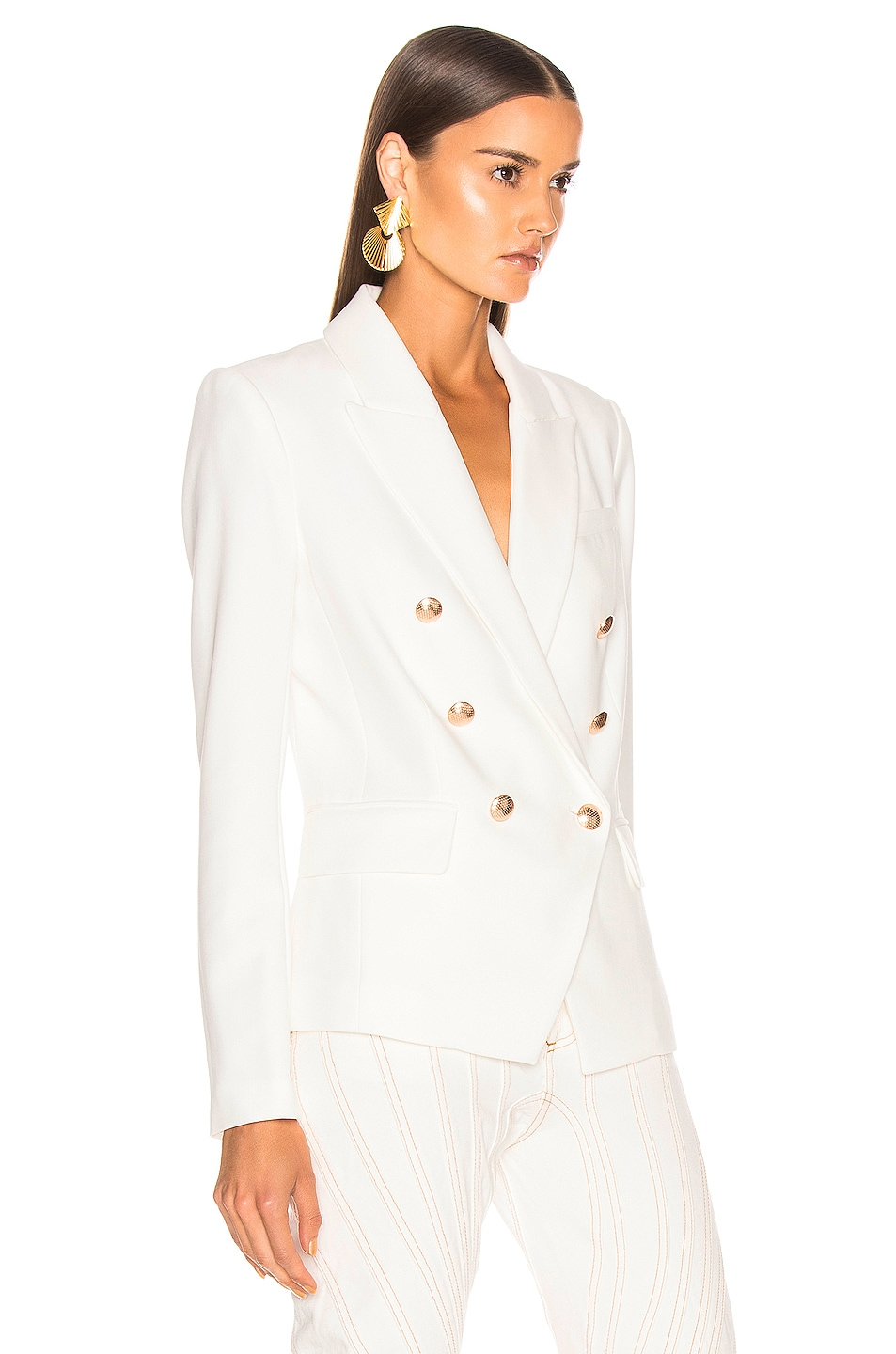 Image 2 of L'AGENCE Kenzie Double Breasted Blazer in Ivory
