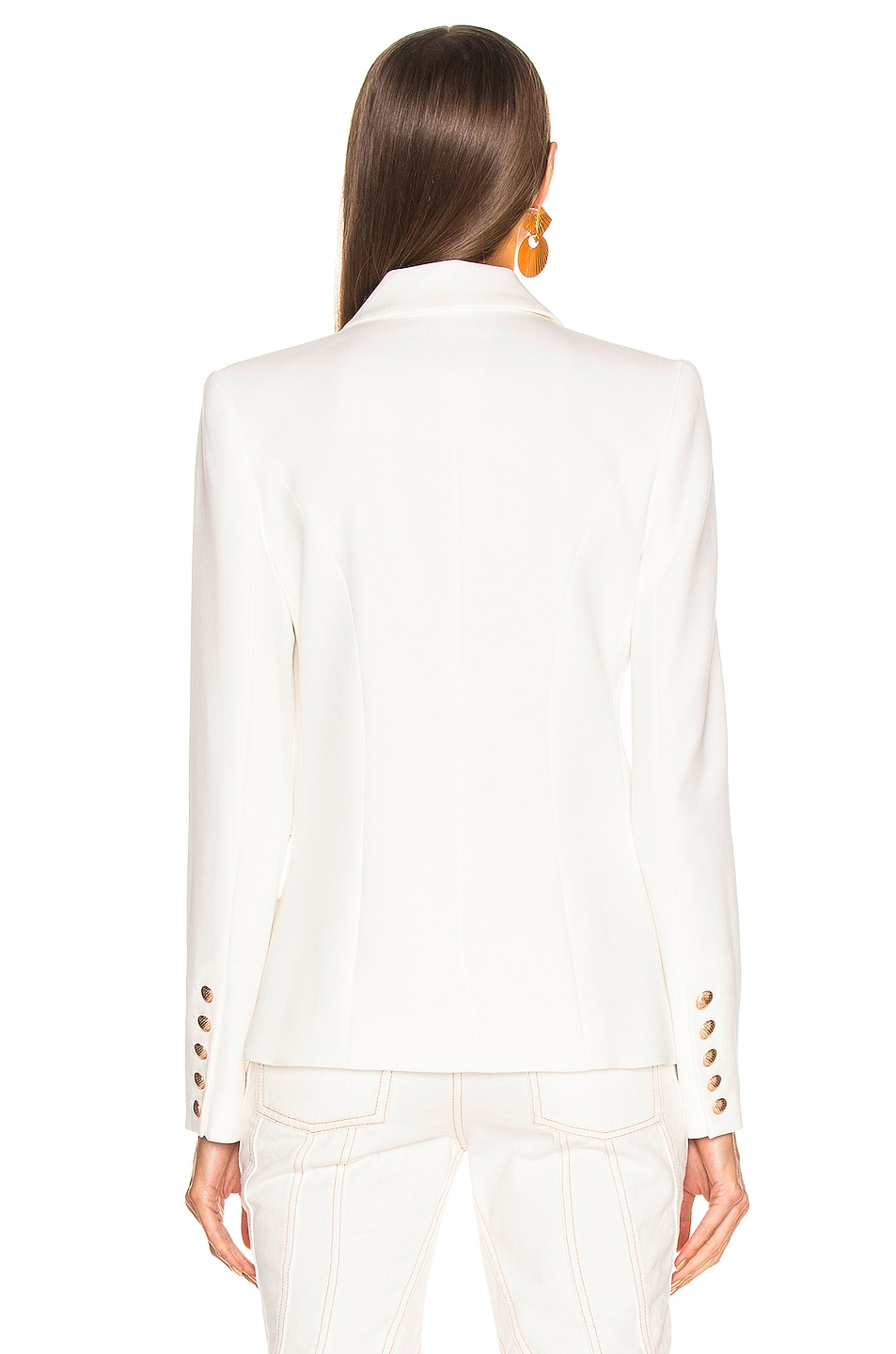 Image 4 of L'AGENCE Kenzie Double Breasted Blazer in Ivory