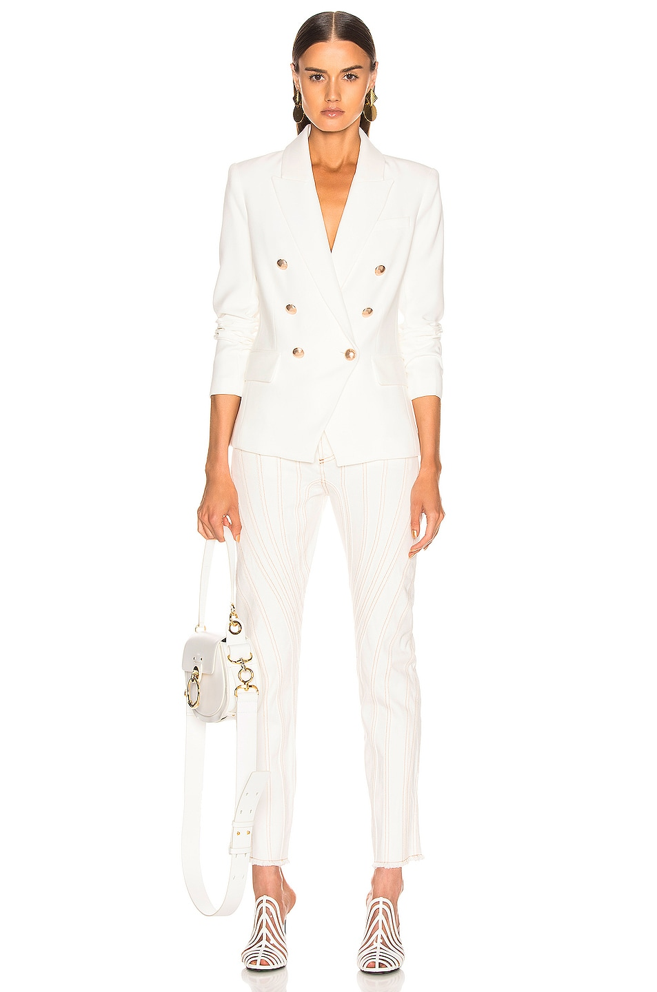 Image 5 of L'AGENCE Kenzie Double Breasted Blazer in Ivory