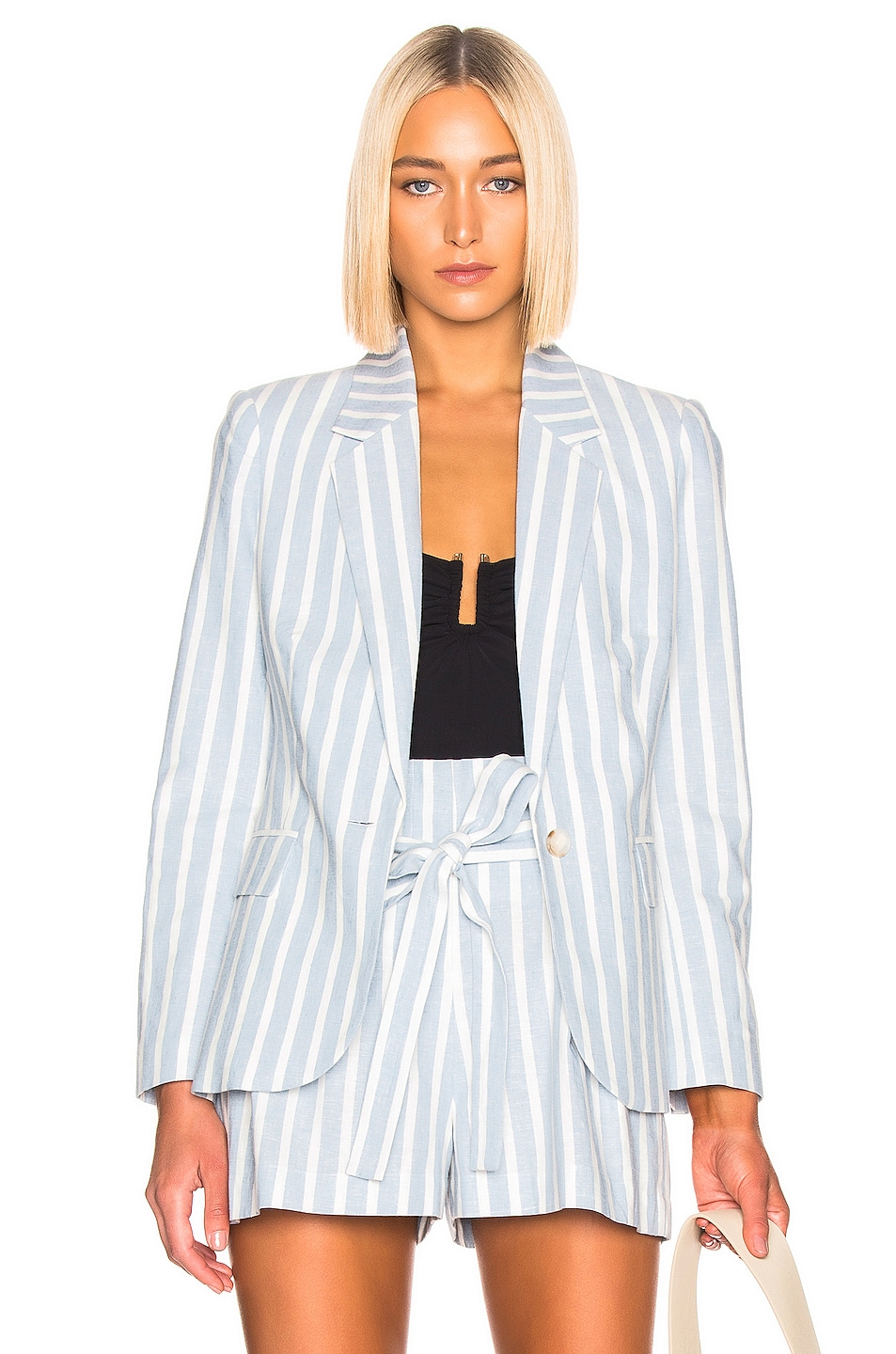 Image 1 of L'AGENCE Scout Blazer in Light Blue & Ivory