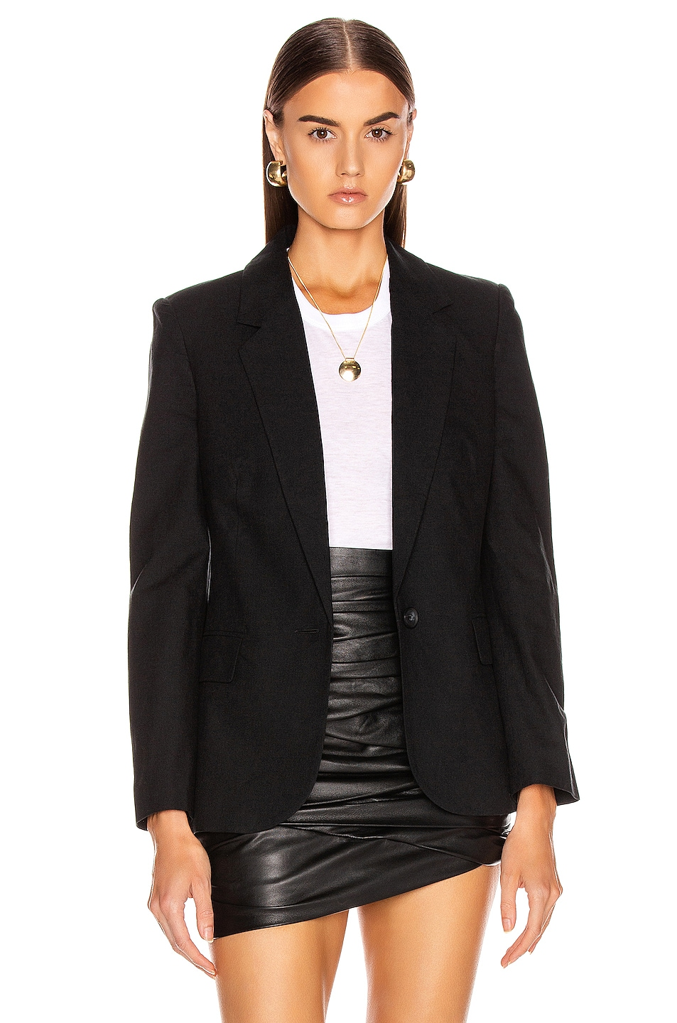 Image 2 of L'AGENCE Scout Blazer in Black