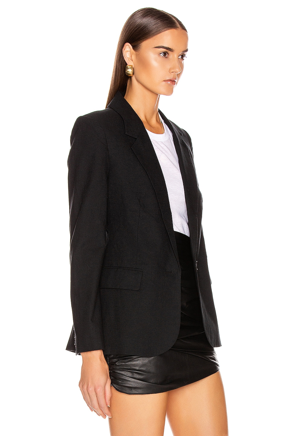 Image 3 of L'AGENCE Scout Blazer in Black