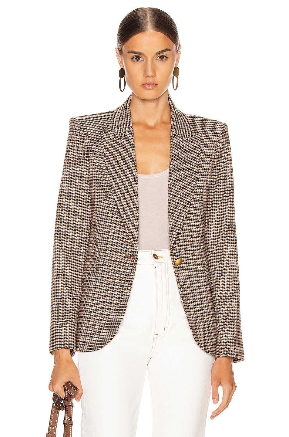 Image 1 of L'AGENCE Chamberlain Blazer in Comey Houndstooth