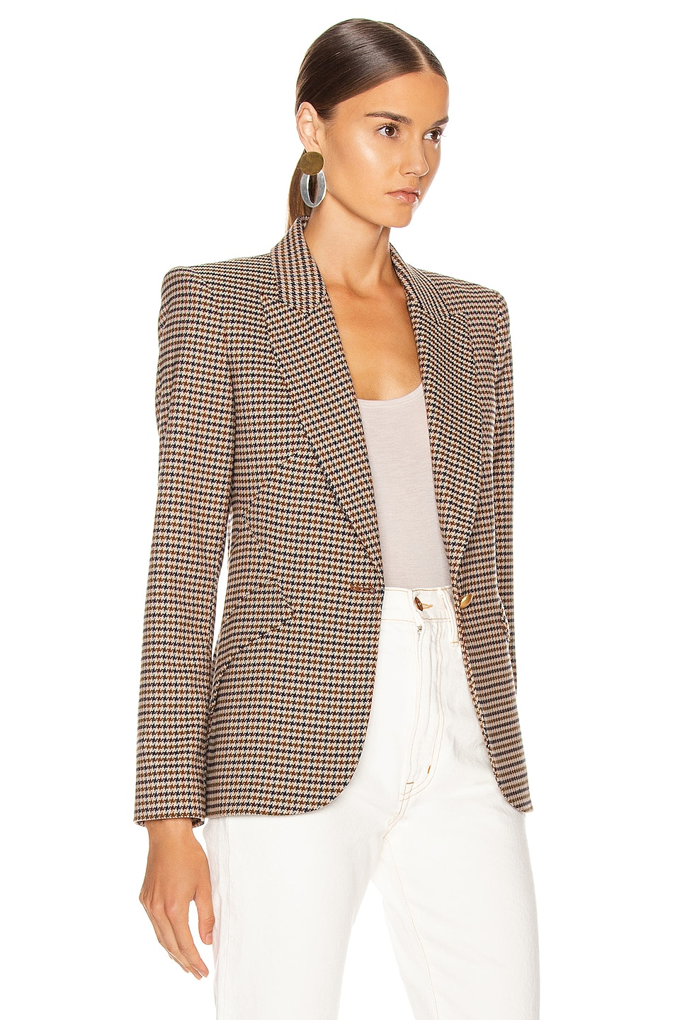 Image 3 of L'AGENCE Chamberlain Blazer in Comey Houndstooth