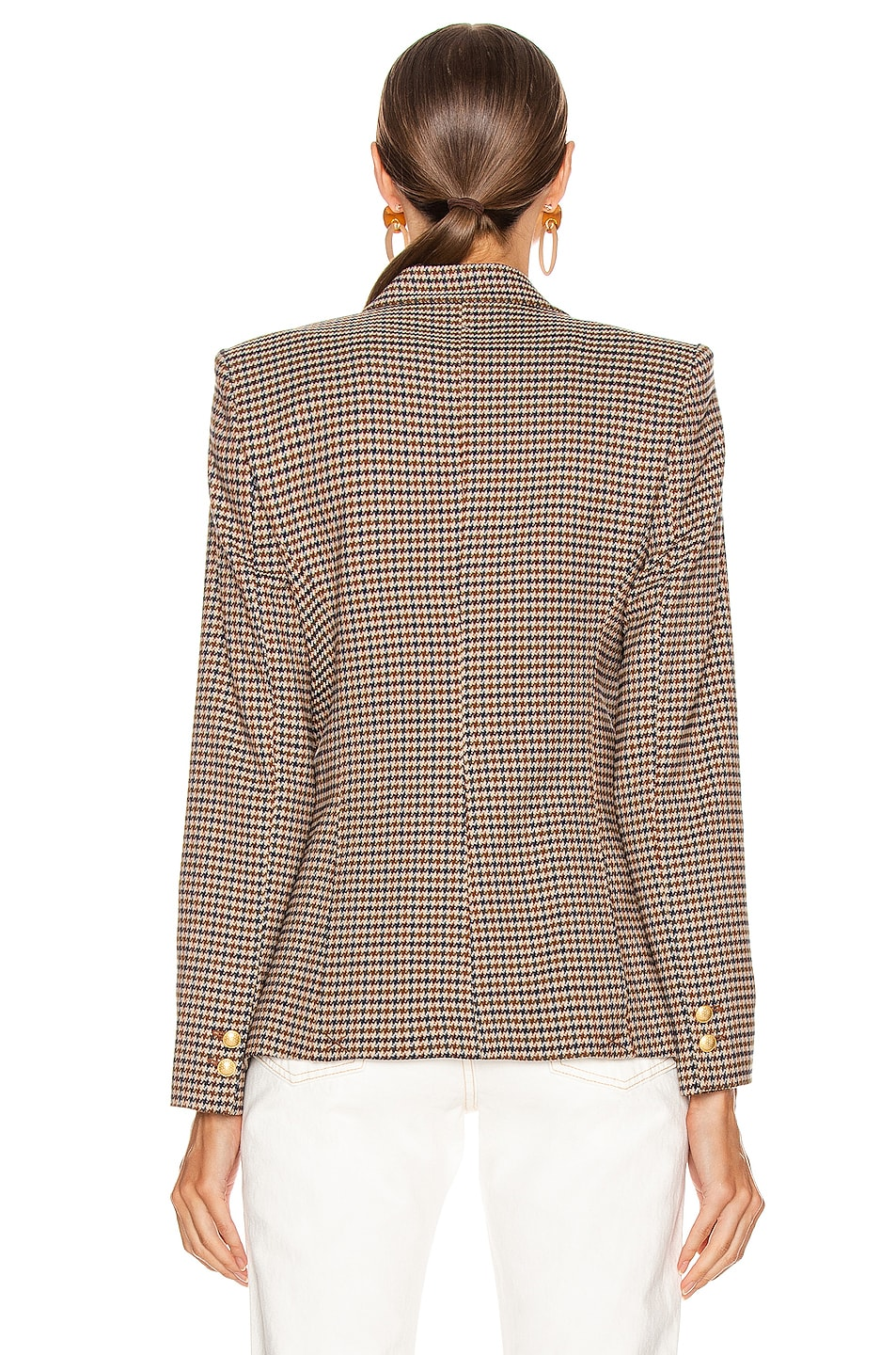 Image 4 of L'AGENCE Chamberlain Blazer in Comey Houndstooth